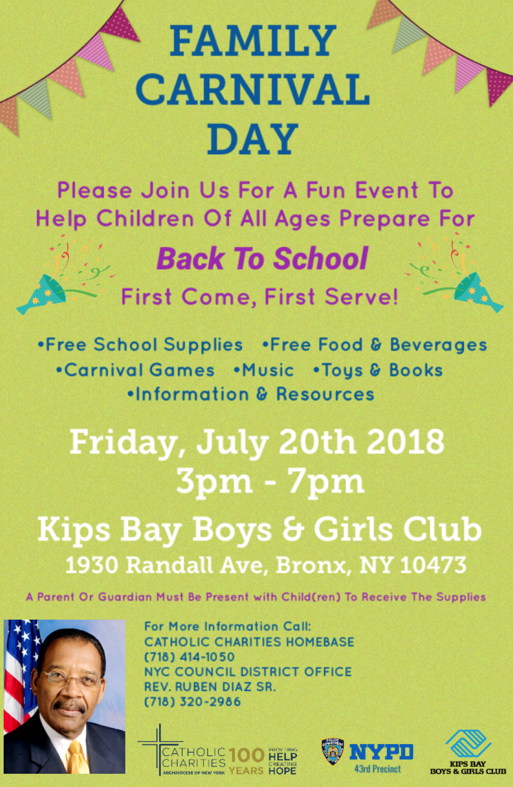 Catholic Charities of New York | Bronx: July Back-to-School Family